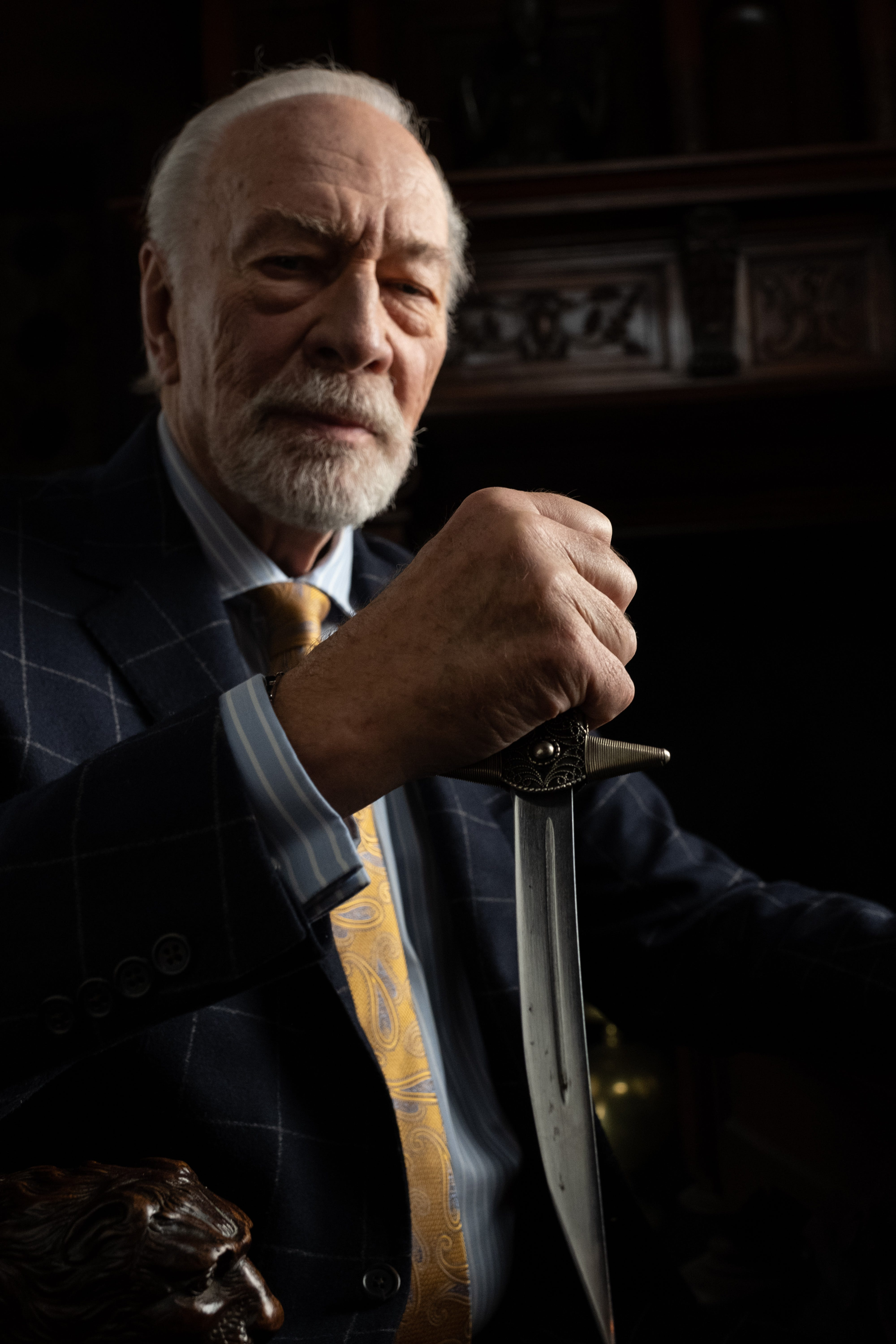 Christopher Plummer Talks Rian Johnson S Knives Out And Becoming A Gif
