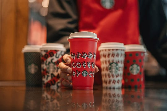 Starbucks reusable red cup for this holiday season.