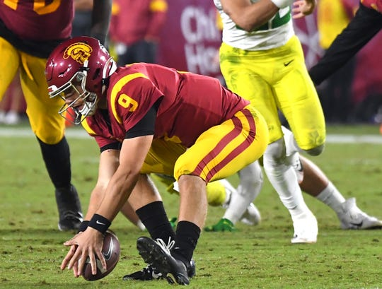 USC Trojans quarterback Kedon Slovis looks to lead his team to a win over Arizona State on Saturday. Slovis went to high school in Arizona.