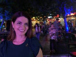 Regina Romero celebrates her mayoral win at Hotel Congress in Tucson on Nov. 5, 2019.