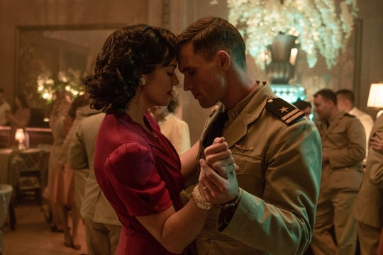 "Mandy Moore and Ed Skrein star in ""Midway."""
