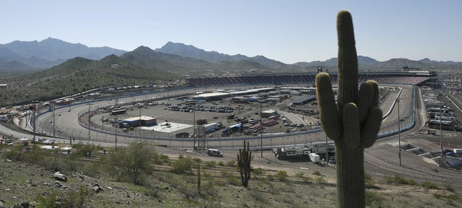 ISM Raceway in Avondale underwent a major renovation that included moving the start/finish line to just before the dogleg.   Kelvin Kuo/USA TODAY Sports Nov 10, 2018; Avondale, AZ, USA; A general view of ISM Raceway during  practice for the Can-Am 500. Mandatory Credit: Kelvin Kuo-USA TODAY Sports