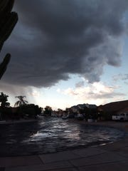 Rain clouds on the morning of Nov. 6, 2019.