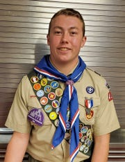 Hunter Nelson, a student at Lebanon Catholic and a member of the Annville-Cleona football team, received his Eagle Scout certificate on Sunday.