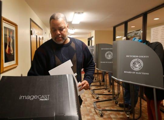 Robert Mallory casts his ballot at Beulah Baptist Church on November 5, 2019.