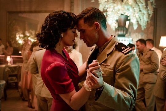 "Mandy Moore, left, and Ed Skrein star in ""Midway."" The movie opens Friday at Regal West Manchester, R/C Queensgate Movies 13 and R/C Hanover Movies."