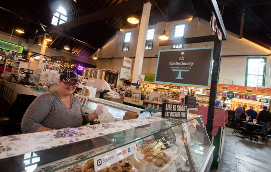 Kayla Solomon of K's Konfectionery inside York Central Market House at 34 W. Philadelphia St. in downtown York.