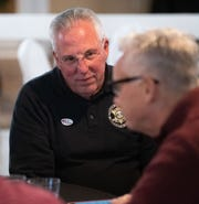 York County Sheriff Richard Keuerleber mingles with friends at his watch party, November 5, 2019.