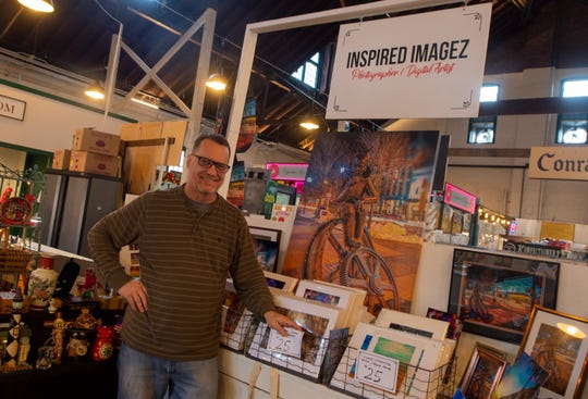 Robert Brown of Inspired Imagez inside York Central Market House at 34 W. Philadelphia St. in downtown York.