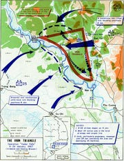 John Dahr's unit was positioned west of the Saigon River for Operation Cedar Falls.