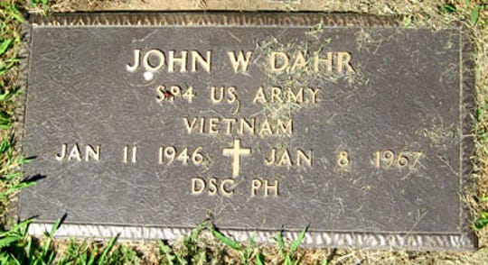 John Dahr is buried in Dillsburg Cemetery.