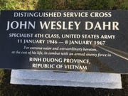 This memorial to John Dahr on the square of his hometown, Dillsburg, Pa., was unveiled in October.