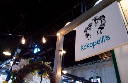 Kokopelli's inside York Central Market House at 34 W. Philadelphia St. in downtown York. Kokopelli's features art and handmade jewelry from six local artists.