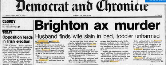 Democrat and Chronicle story on Brighton ax murder