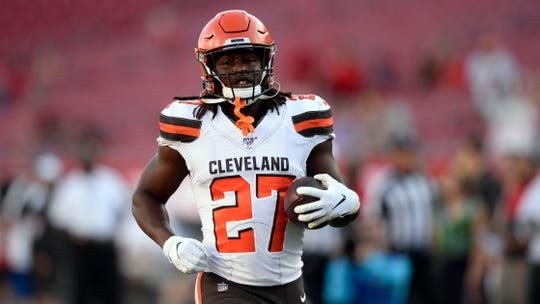 Kareem Hunt has served his eight-game suspension and is expected to have a role for the Cleveland Browns in Sunday's game against Buffalo.