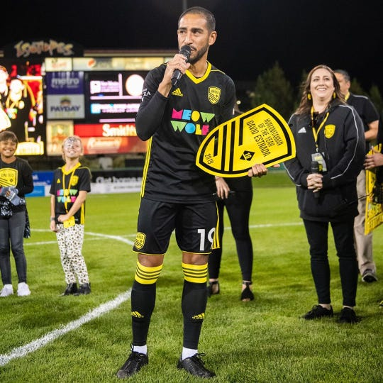 Alisal alum David Estrada was honored with the Humanitarian of the Year Award by the New Mexico United, one of the newer clubs in the United Soccer League (USL).