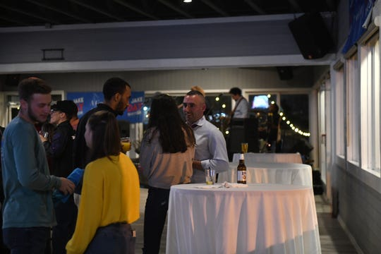 """After sweeping up the mayoral election by over 85%, Mayor Jake Day speaks to constituents during his """"Victory Party"""" in Salisbury's Brew River Restaurant and Bar on Election Day, Nov. 5, 2019."""