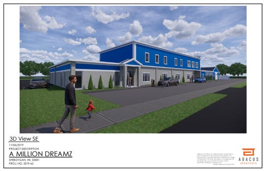 A rendering of the new child care facility coming fall 2020 called A Million Dreamz is planned in Sheboygan.
