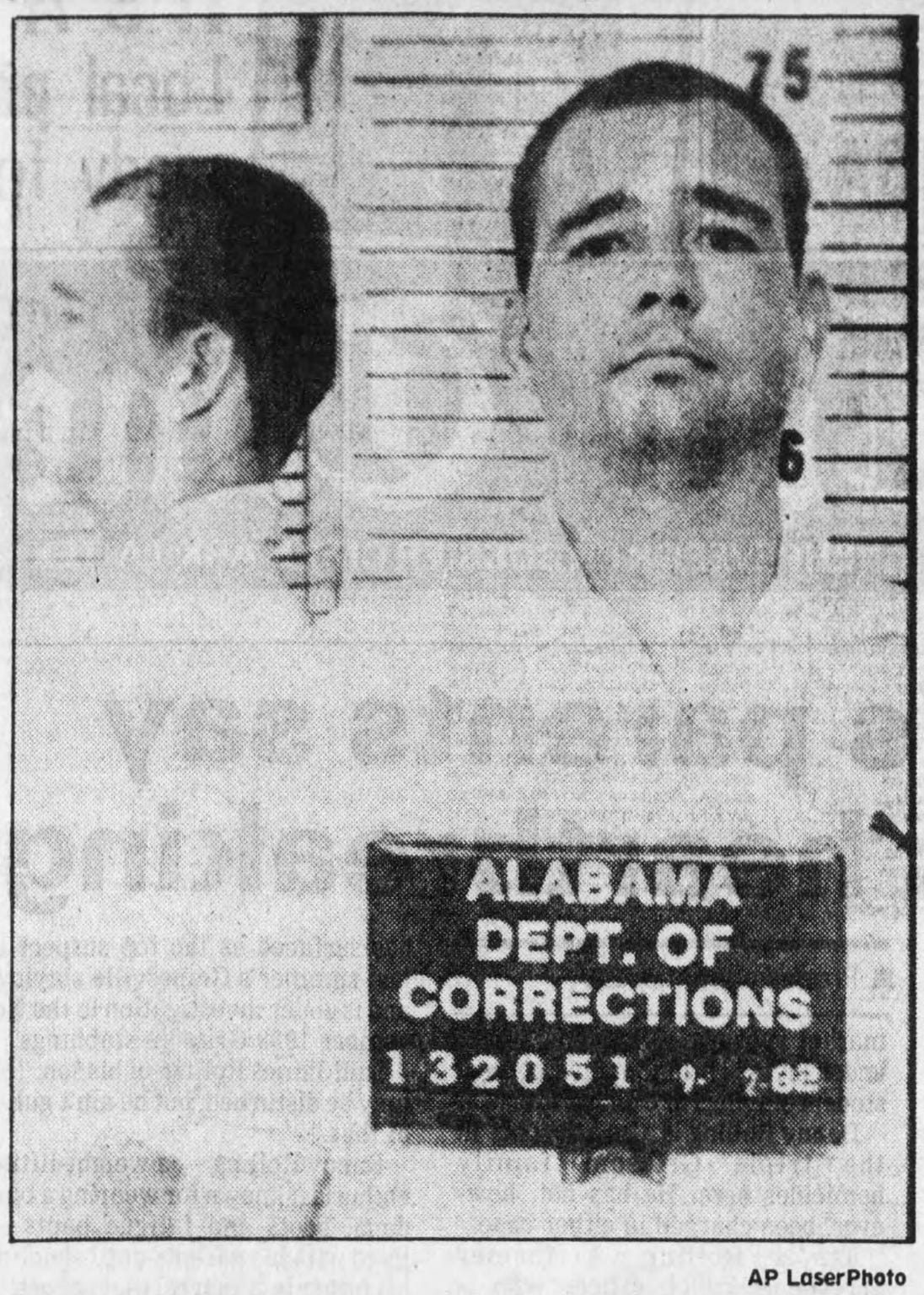 Pictured is a 1982 file photo of Danny Harold Rolling used in a 1991 report in The Times. Rolling served time in Alabama prisons for a Montgomery robbery in 1979.