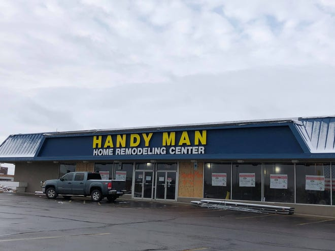 Handy Man at 910 E. 10th St. in Sioux Falls, South Dakota is rebuilding after being damaged by a tornado.