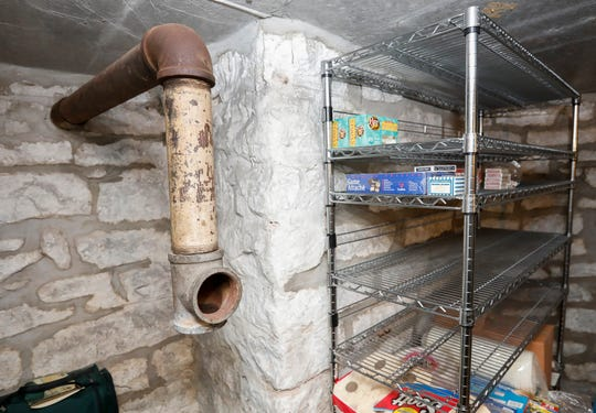A pipe that may be used for ventilation is located inside the bomb shelter in the Baker home on East Walnut Street.
