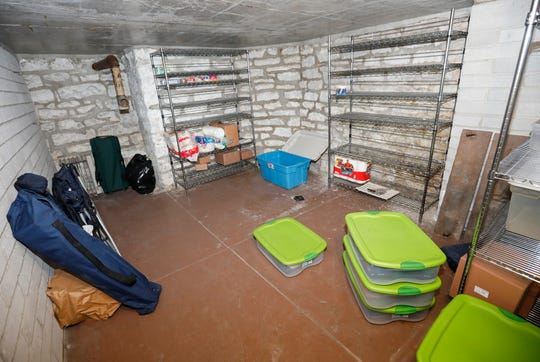 The bomb shelter inside of the Baker home on East Walnut Street.