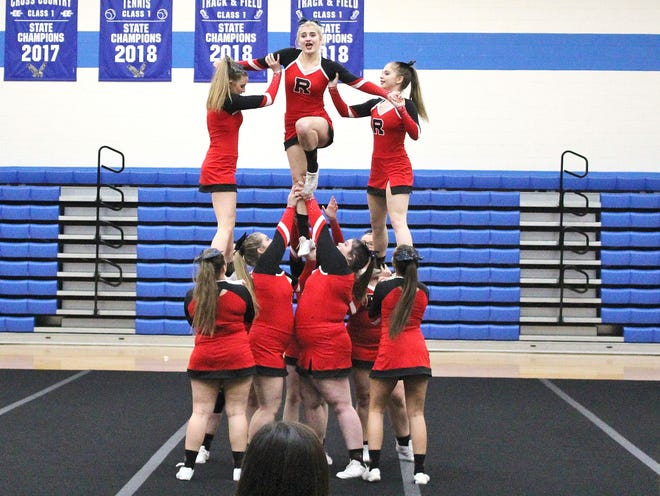 Riverheads won the Class 1 West Section cheer tournament October 26, earning a spot in the Class 1 state tournament.