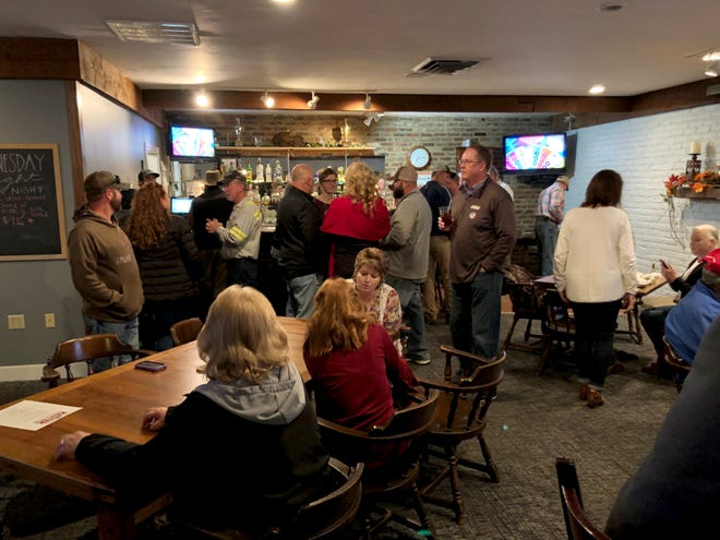 Family, friends and campaign supporters of Neil Kester gathered Tuesday night at the Ironwood club in Staunton to await election results.