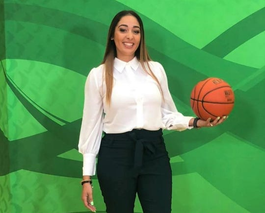 FAMU women's basketball assistant coach Angelica Bermudez at Media Day inside the Al Lawson Multipurpose Center.
