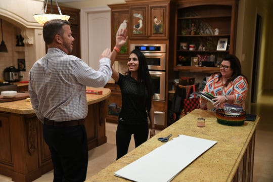 "Joe Graves, candidate for Vero Beach City Council, celebrates at home with his family after winning of a seat on the council on Tuesday, Nov. 5, 2019, in Vero Beach. ""I had a lot of help, I have a lot of friends, people in the community rally behind me, I'm glad not to let them down,"" Graves said."