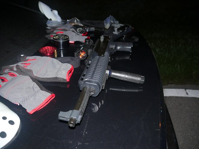 Firearms, gloves and other items found during an arrest in St. Lucie County on November 5, 2019.