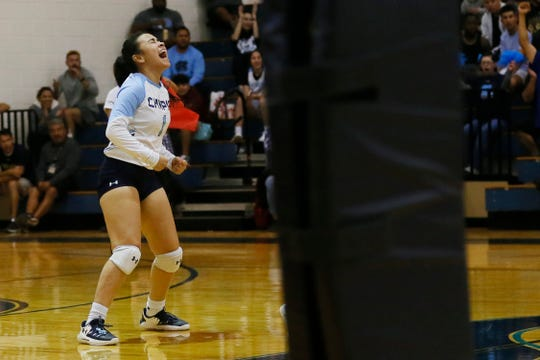 Chapin's Alexia Morales celebrates during the game against Horizon in Class 5A playoffs Tuesday, Nov. 5, at Chapin High School in El Paso.