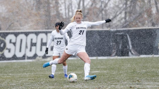 Hannah Sharts has started all 19 matches for the Colorado women's soccer team this fall.