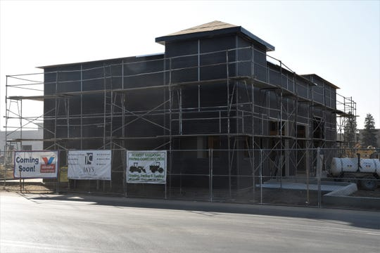 Construction continues on Cameron Ave. across the street from Costco Wholesale on Nov. 6 in Visalia. This is the future site of a Valvoline Instant Oil Change.
