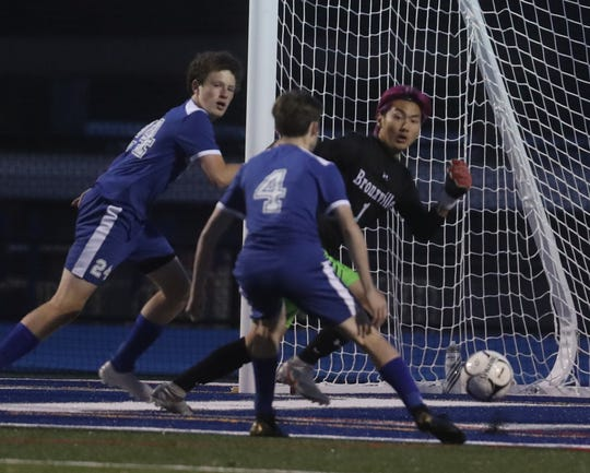 Burke Catholic defeated Bronxville 2-0 in a  NYSPHSAA Class C regional semifinal soccer match at Hendrick Hudson High School in Montrose Nov. 5, 2019.