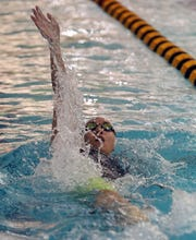 Scarsdale's Joy Jiang wins Girls 100 Yard Backstroke during Section 1 Swimming and Diving Championships at Felix Festa Middle School in West Nyack Nov. 5, 2019.