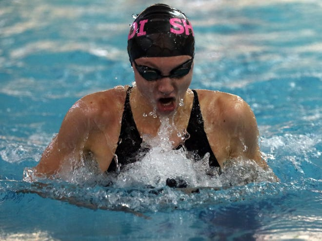 SHEDI's Ava Franks wins Girls 100 Yard Breaststroke during Section 1 Swimming and Diving Championships at Felix Festa Middle School in West Nyack Nov. 5, 2019.