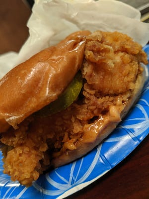 Spicy chicken sandwich from Popeyes.