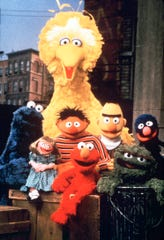 "Muppets from the cast of ""Sesame Street,"" from left: Cookie Monster, Prairie Dawn, Big Bird, Ernie, Elmo, Bert, Oscar the Grouch and Grover, in a photo taken in 1999."