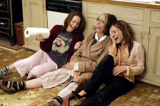 """Diane Keaton (center, with Rachel McAdams and Sarah Jessica Parker) is an ailing mom in """"The Family Stone."""""""