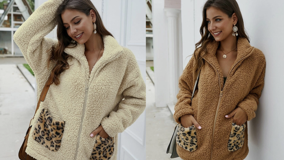 Wrap yourself up in a teddy coat this winter.