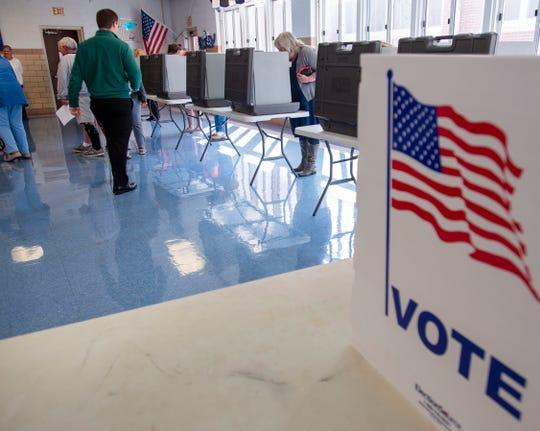 Voters cast their ballots on Nov. 5, 2019,  in Abingdon, Virginia.
