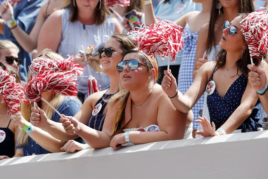 Alabama students attending Saturday's game vs. LSU will not be punished for protesting President Trump, who plans to be at Bryant-Denny Stadium.