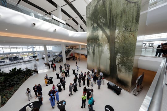 Louis Armstrong New Orleans International Airport opened its new 35-gate terminal to passengers Wednesday, Nov. 6.