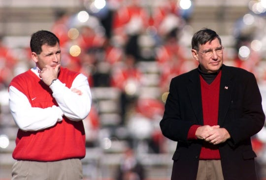 Greg Schiano and Bob Mulcahy in a 2001 photo