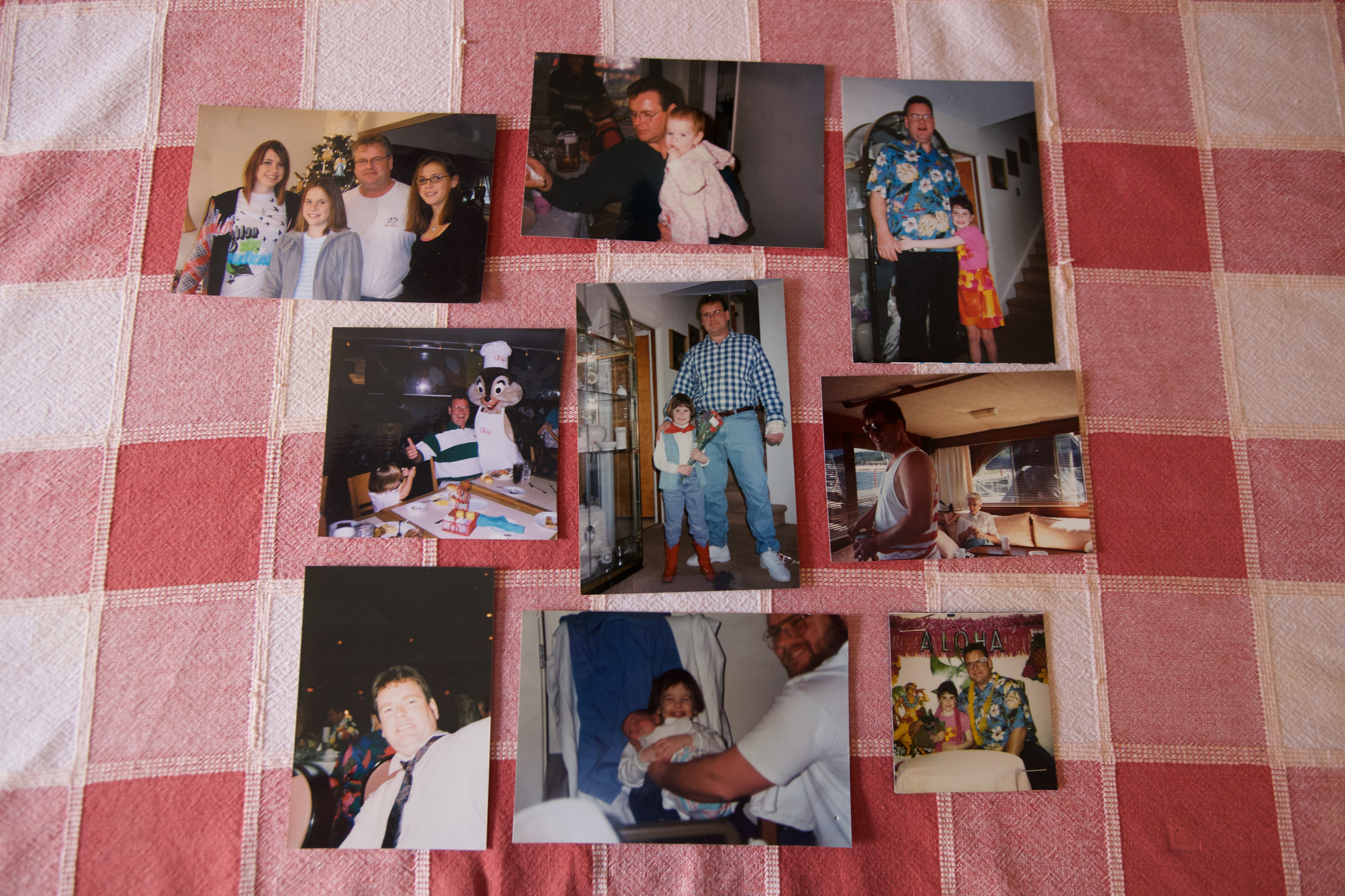 Family photos featuring James Walsh, who was killed by a suspect fleeing police.