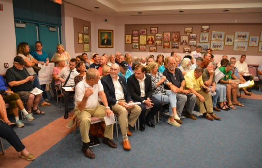 Wednesday's Satellite Beach City Council meeting was packed standing room only, with attendees spilling into the City Hall lobby.