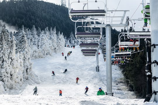 Skiers and riders hit the slope at Killington Resort for the first day of the season on Nov. 3, the first Vermont ski report to open.