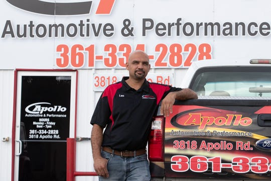 Leo Mendez is the owner of Apollo Automotive & Performance located at 3818 Apollo Road in Corpus Christi.