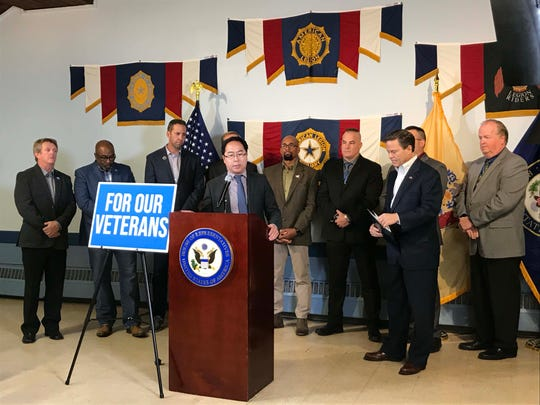 U.S. Rep. Andy Kim talks about the BRAVE Act, a bill that he and fellow Democrat Donald Norcross will introduce in the House of Representatives next week.